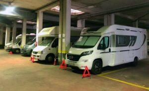 Parking indoor cubierto zona Norte Madrid. Caravanas.